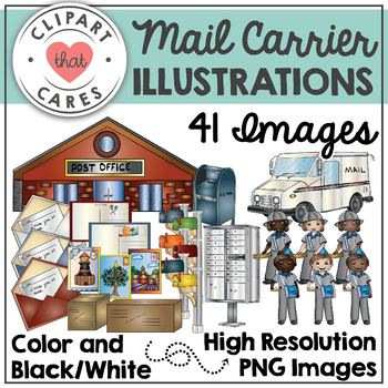 Mail Carrier Illustrations Clipart by Clipart That Cares