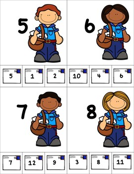 Mail Carrier Number Recognition Clip Cards