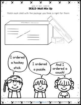 Mail  Carrier - Week 24 Age 4 Preschool Homeschool Curriculum by Home CEO