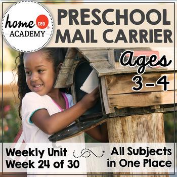 Mail Carrier Community Helper - Weekly Unit for Preschool, PreK or Homeschool
