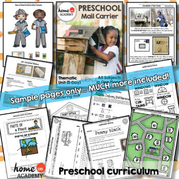 Mail Carrier Community Helper - Weekly Unit for Preschool, PreK or Homeschool