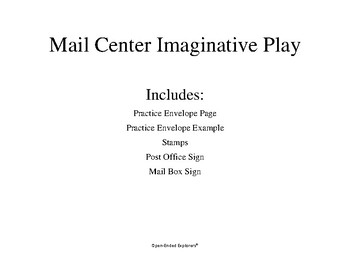Mail Center Imaginative Play