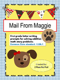 Mail From Maggie - First Grade Math Story Problems - Addition