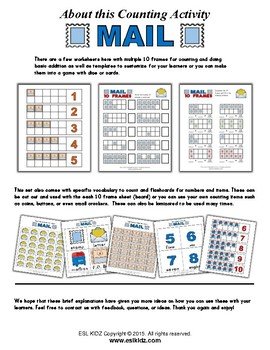 Mail Number / Counting Activities