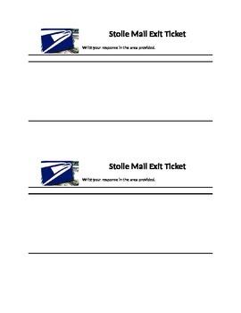 Mail logo exit ticket