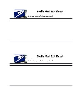 Mail logo exit ticket