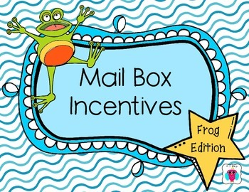Mailbox Behavior Incentives- Frog Theme