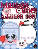 Mailbox Cuties Addition to 10 Match Valentine's Day File Folder Game Math Center