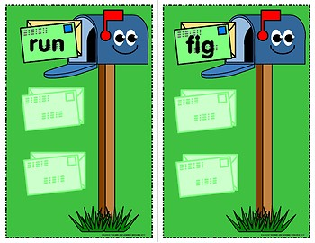 Mailbox Delivery Game - Rhyming Words - Literary Learning Center Kit