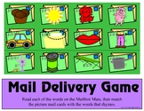 Mailbox Delivery Game - Rhyming Words - Literary Learning