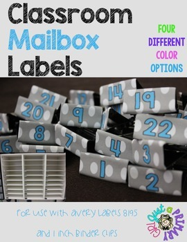 Mailbox Labels for 1 inch binder clips