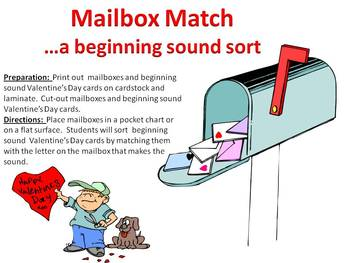 Mailbox Match - A Valentine's Day Beginning sound sort
