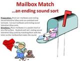 Mailbox Match - An Ending Sound Sort