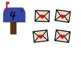 Mailbox Math Mats Numerals 0 to 10 Valentine's Day