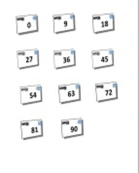 Mailbox Multiplication x9 File Folder Game