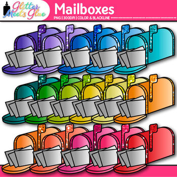 Mailbox Clip Art {Post Office Graphics for Community Helper Resources}
