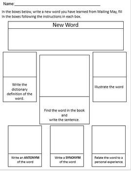Mailing May Read Aloud Comprehension Packet
