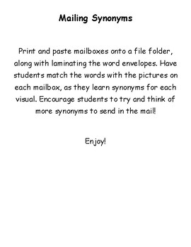 Mailing Synonyms