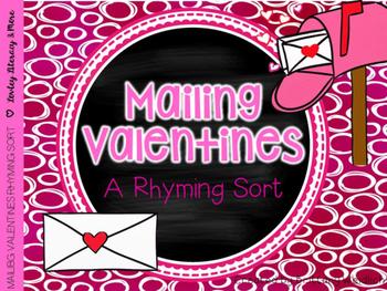 Mailing Valentines Rhyming Sort