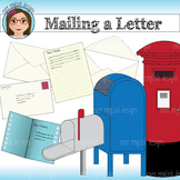Mailing a Letter Clip Art