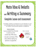 Main & Central Idea, Details, Summary Common Core - Lesson