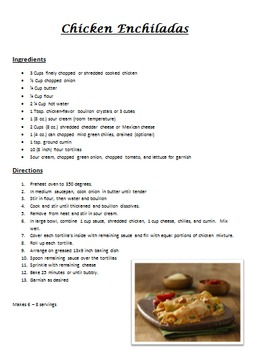 Main Dish Recipes Pack 1