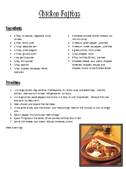 Main Dish Recipes Pack 2