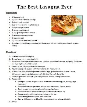 Main Dish Recipes Pack 3
