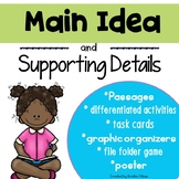 Main Idea and Details Activities   Passages   Task Cards   Practice