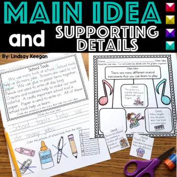 Main Idea and Details - Practice Pages for Primary Students