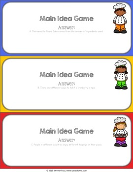 Main Idea and Details Activity: Main Idea Reading Game