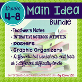 Main Idea and Supporting Details Bundle for Grades 4-8