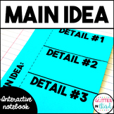 Main Idea and details interactive notebook