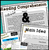 Main Idea (non-fiction), Reading Comprehension, & Strategi
