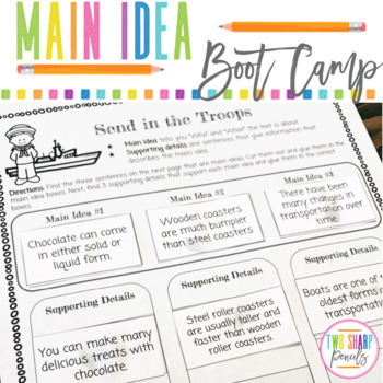 Main Idea and Supporting Details Comprehension Passages