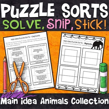 Main Idea and Details Puzzle Sorts