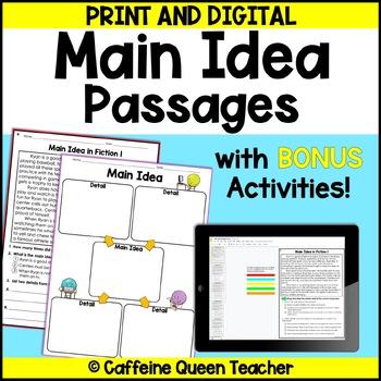 Main Idea Passages - Fiction - Main Idea Practice