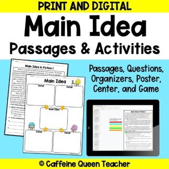 Main Idea Passages with Main Idea and Details
