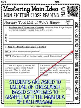 Main Idea: Finding the Main Idea of Non-Fiction Texts