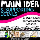 Main Idea Worksheets | 4 Main Idea Introduction Lessons | BUNDLE