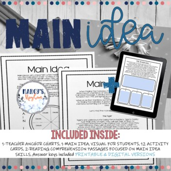 Main Idea and Supporting Details 4th and 5th grade Activity Practice