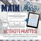 Main Idea Worksheet with Supporting details graphic organizer: 4th & 5th grade