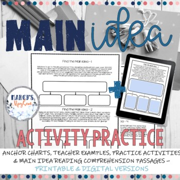 Main Idea 4th and 5th grade Practice Activity
