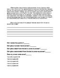 Main Idea ACT Aspire Constructed Response: Inherited Traits