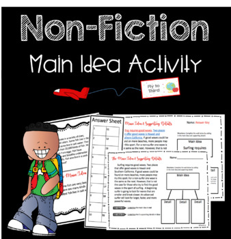 Main Idea Activites for 3rd and 4th Grade