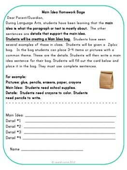 It is a photo of Refreshing Printable Main Idea Games