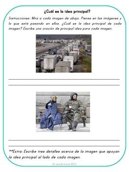 Main Idea Activities and Printables / Actividades de Idea Principal {Bilingual}