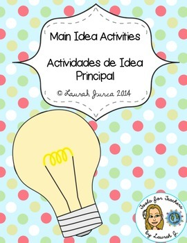 Main Idea Activities and Printables / Actividades de Idea Principal {Bilingual}