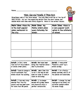 Engaging Main Idea Activities ~ Themed!  (Great for Centers!)