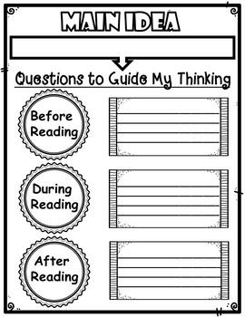 Main Idea Anchor Chart Graphic Organizer